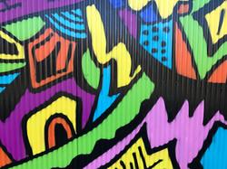 Close up of Jyiro's street art mural
