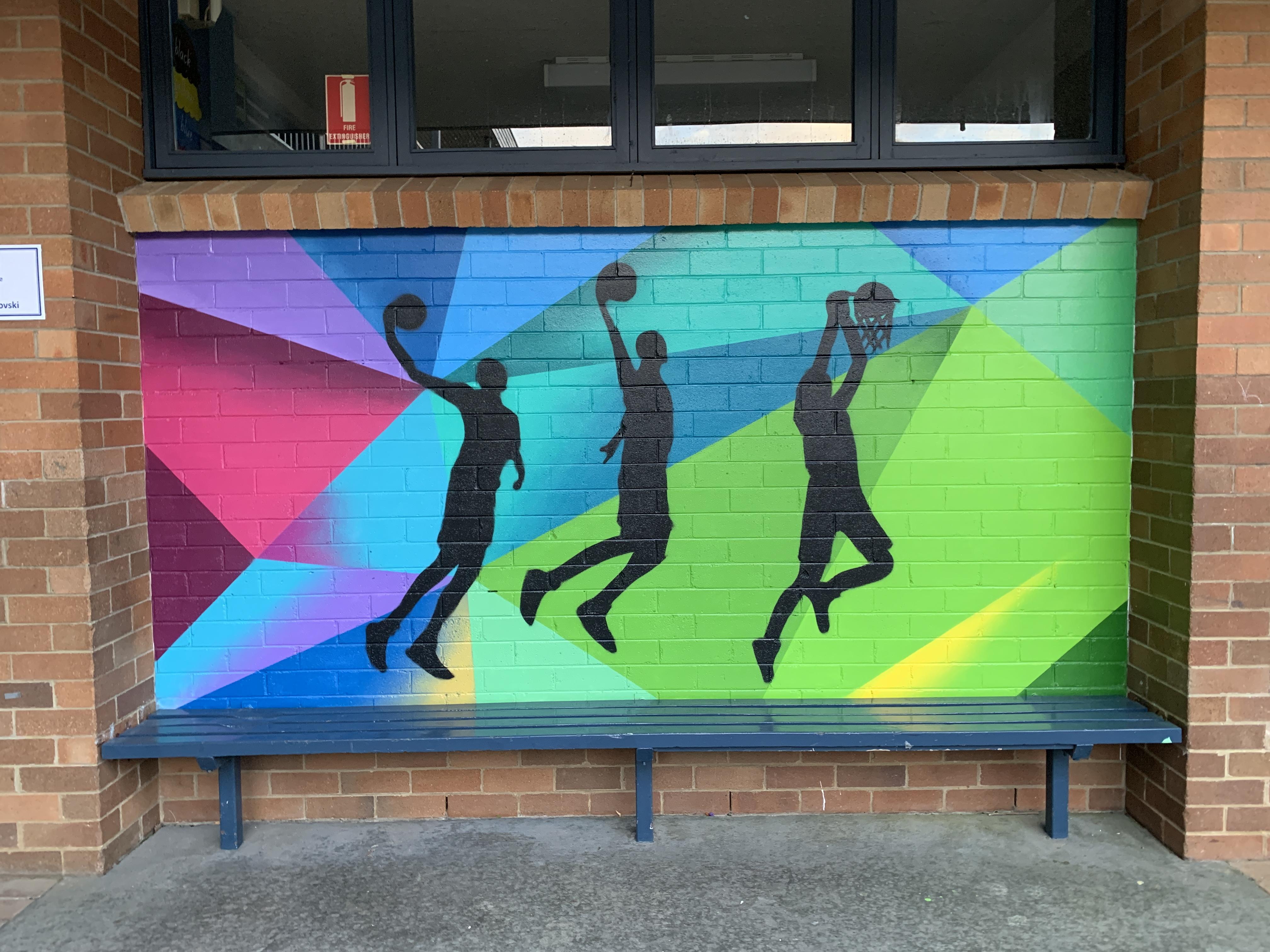 BasketBall Graffiti Art Mural