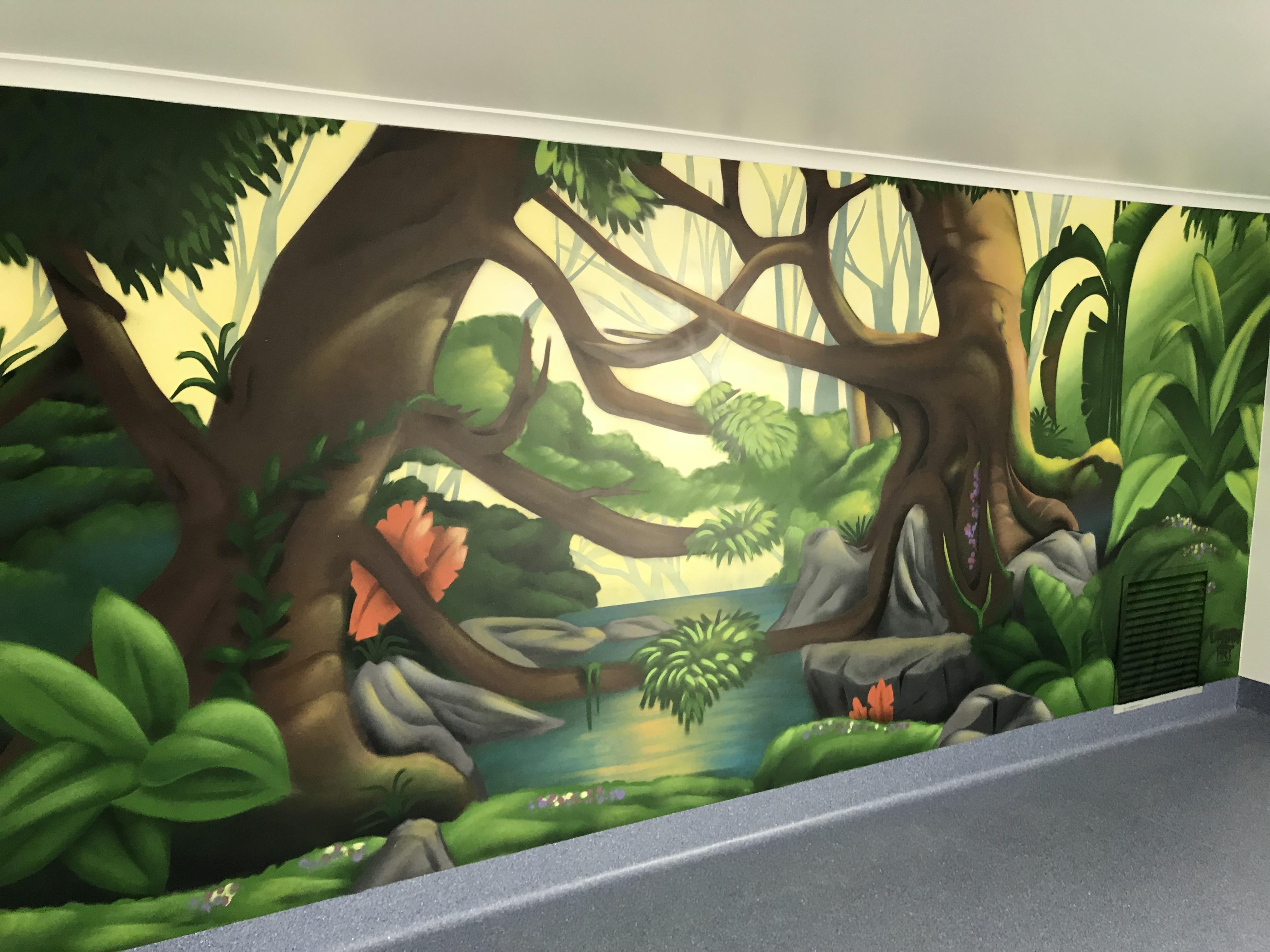 Pet play area mural wall art