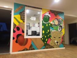 Buzz lightyear kids mural