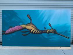 Seahorse Ocean Life mural art