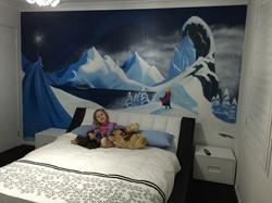 Girls dream room mural