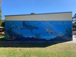 Underwater ocean street art mural