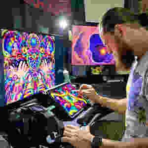 Ayjay Art creating visionary art