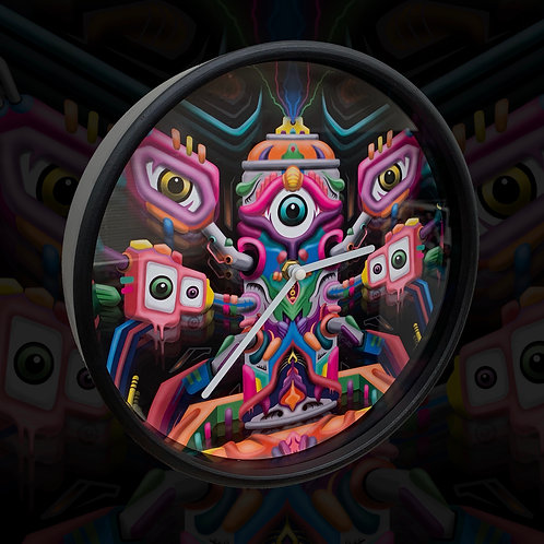 'Entheo' - Psychedelic Art Clock