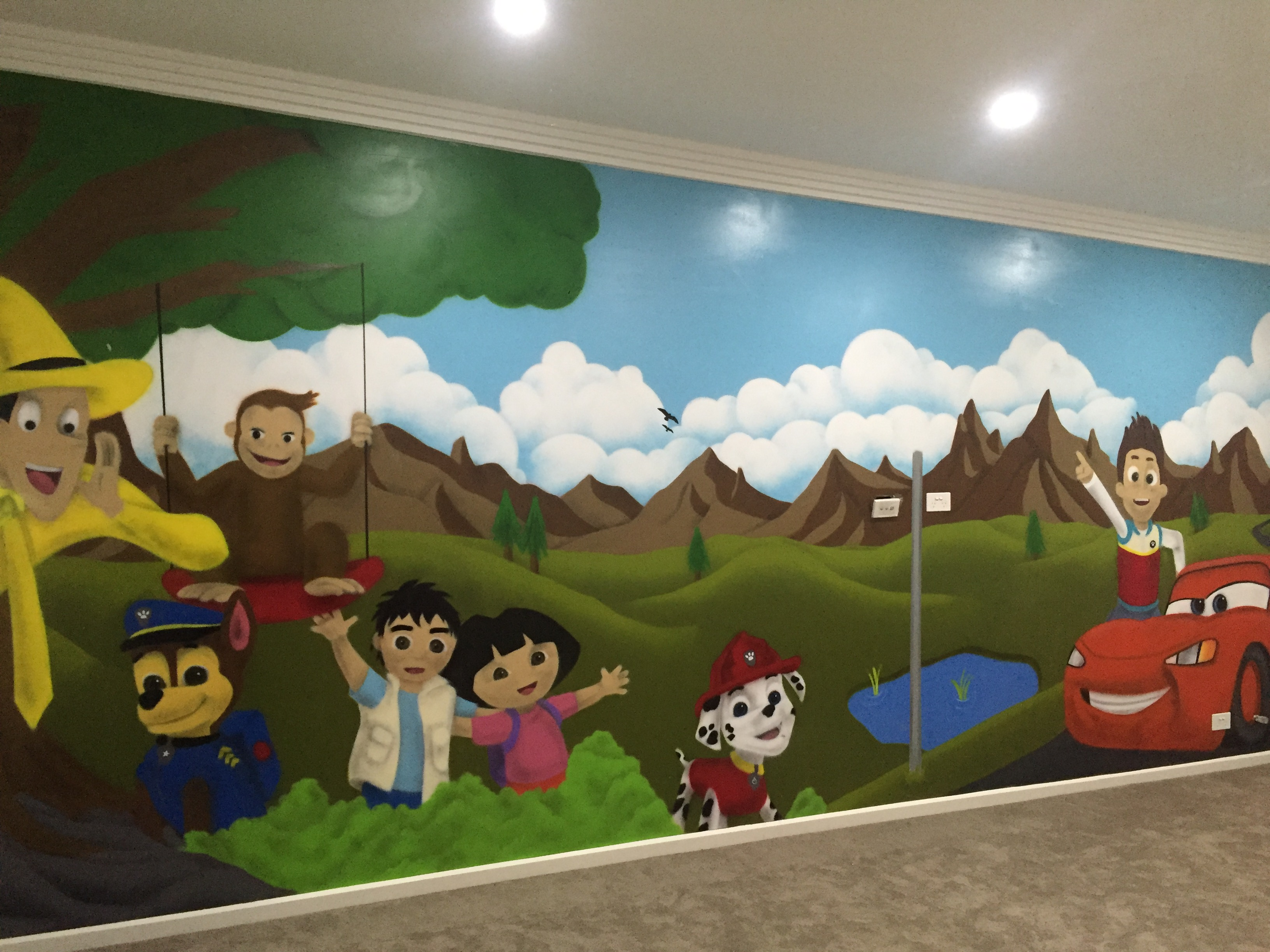 Kids playroom mural artwork
