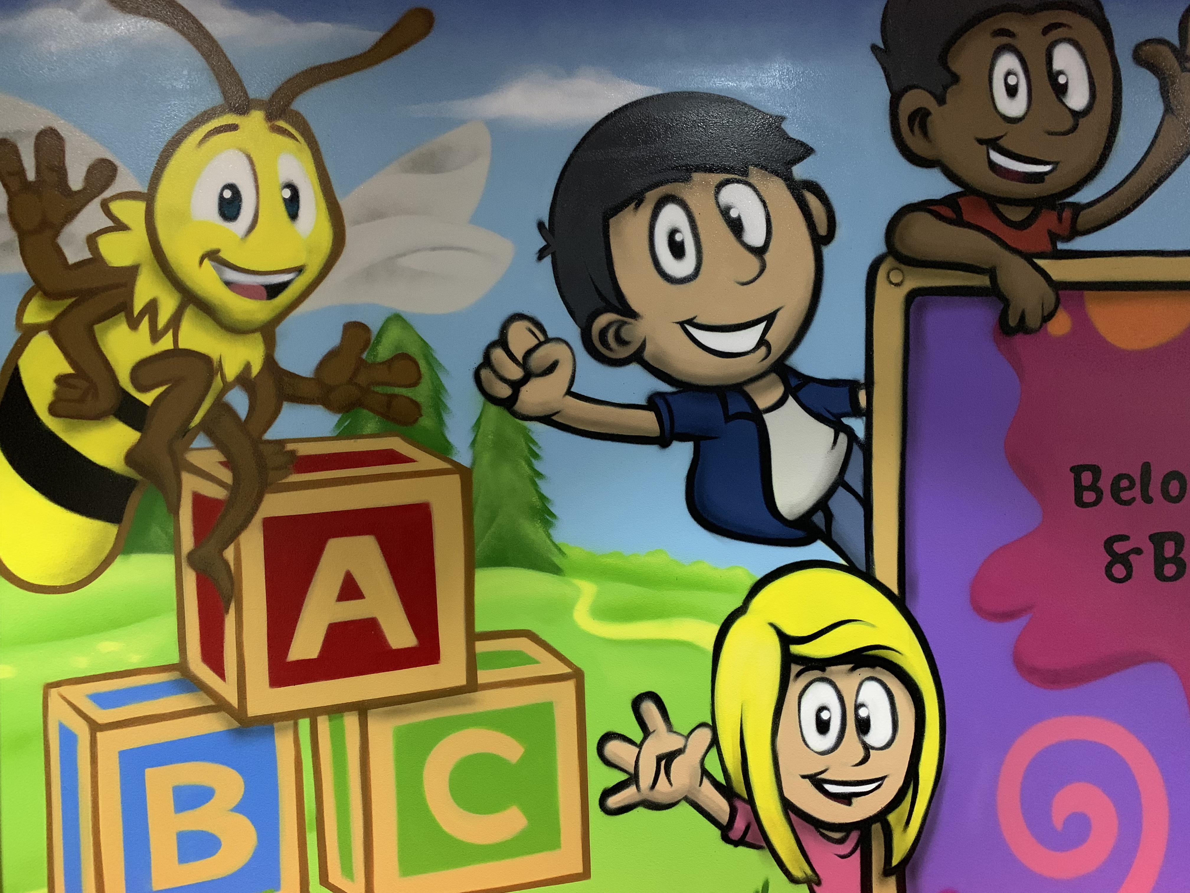 Urban Art kids mural artwork