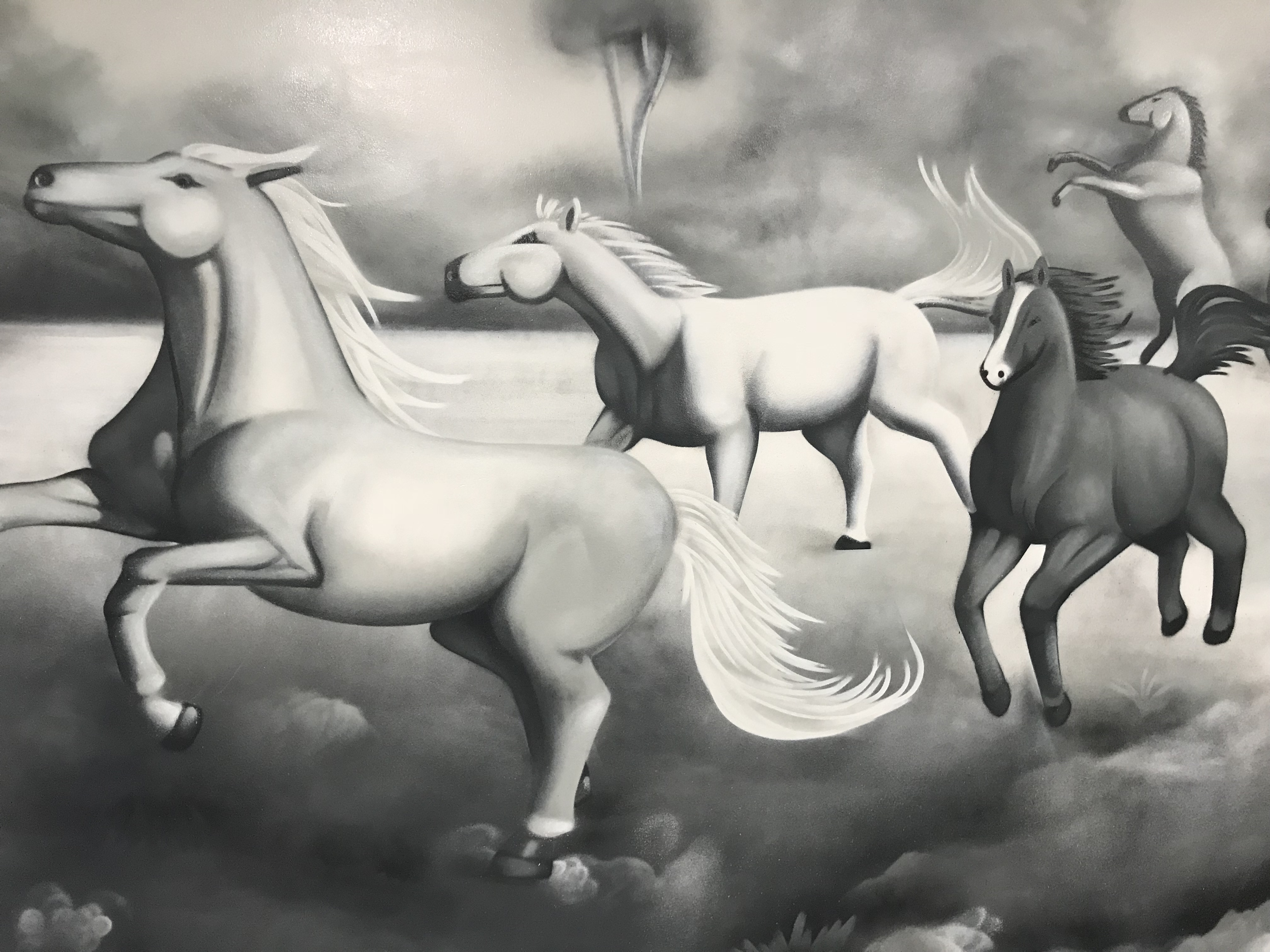 wild horses wall art nature mural