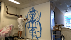 Barber Shop mural artist