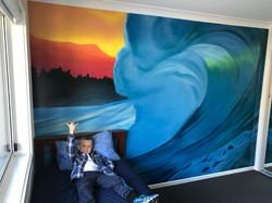 cool ocean kids bedroom mural idea