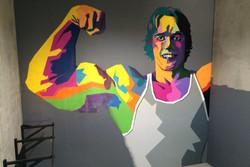 Arnold Schwarzenegger street art mural