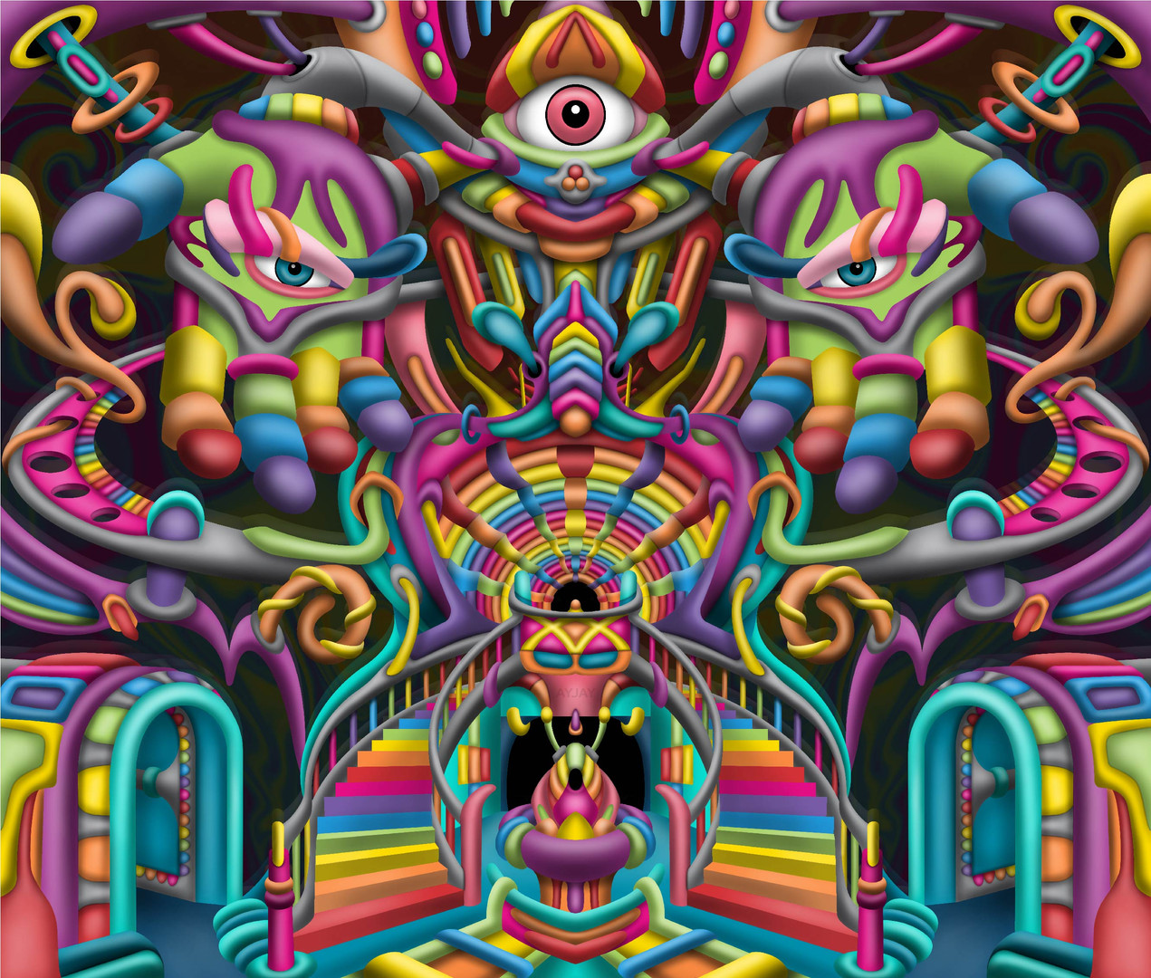 Celestial Stairway DMT art by Ayjay Art