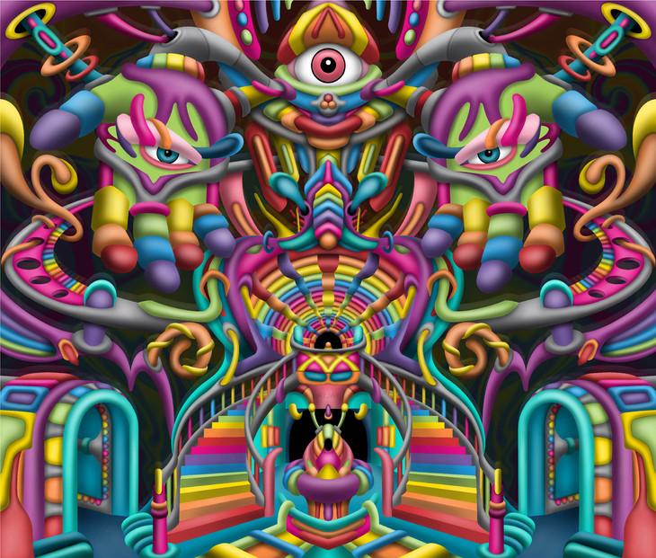 Celestial Stairway DMT art by Ayjay Art