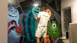mural artist painting kids room