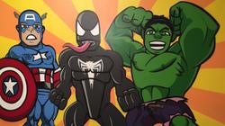 Avengers bedroom mural idea for boys