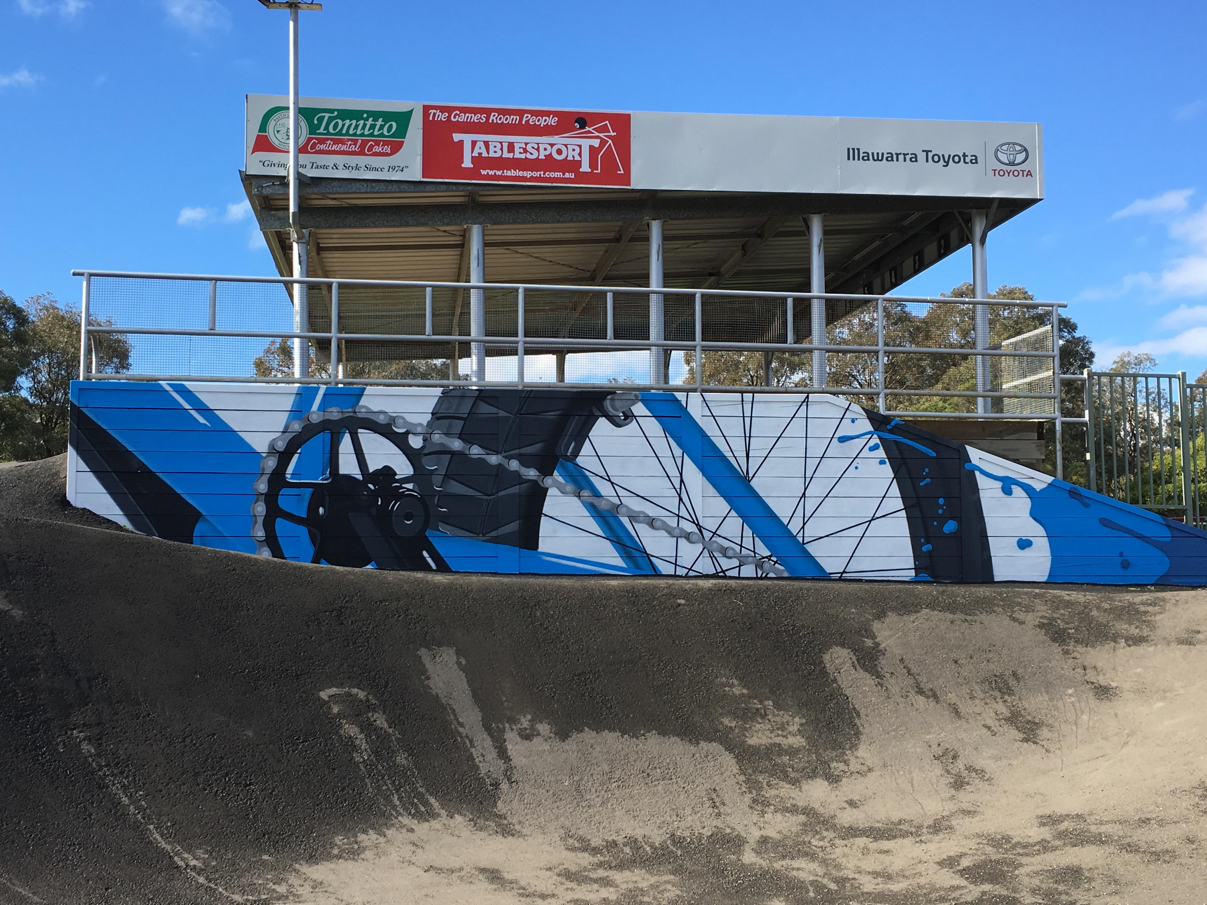BMX track Street Art Mural
