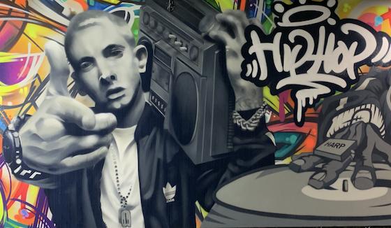 Hip Hop street art mural