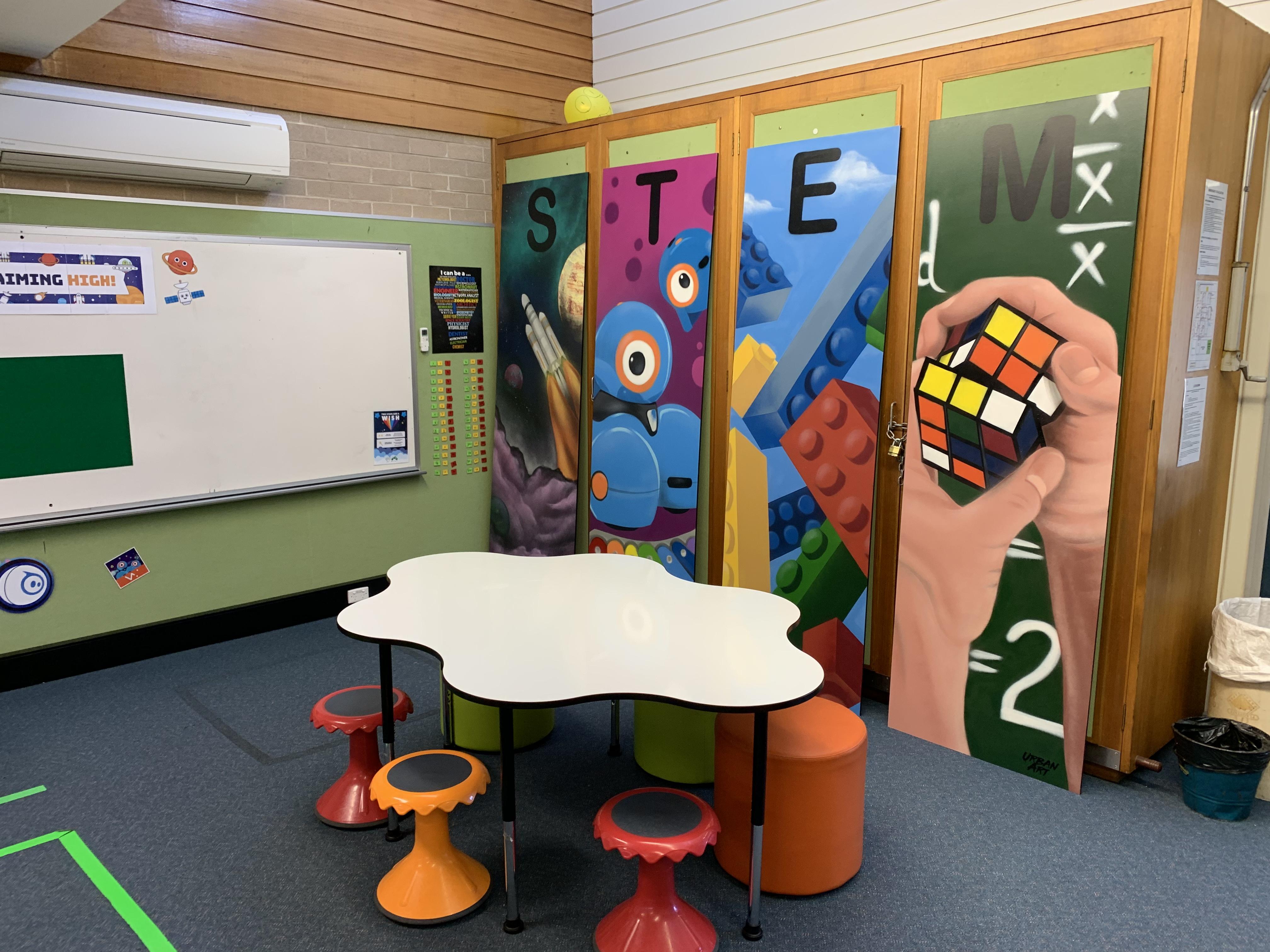 STEM School Classroom mural art