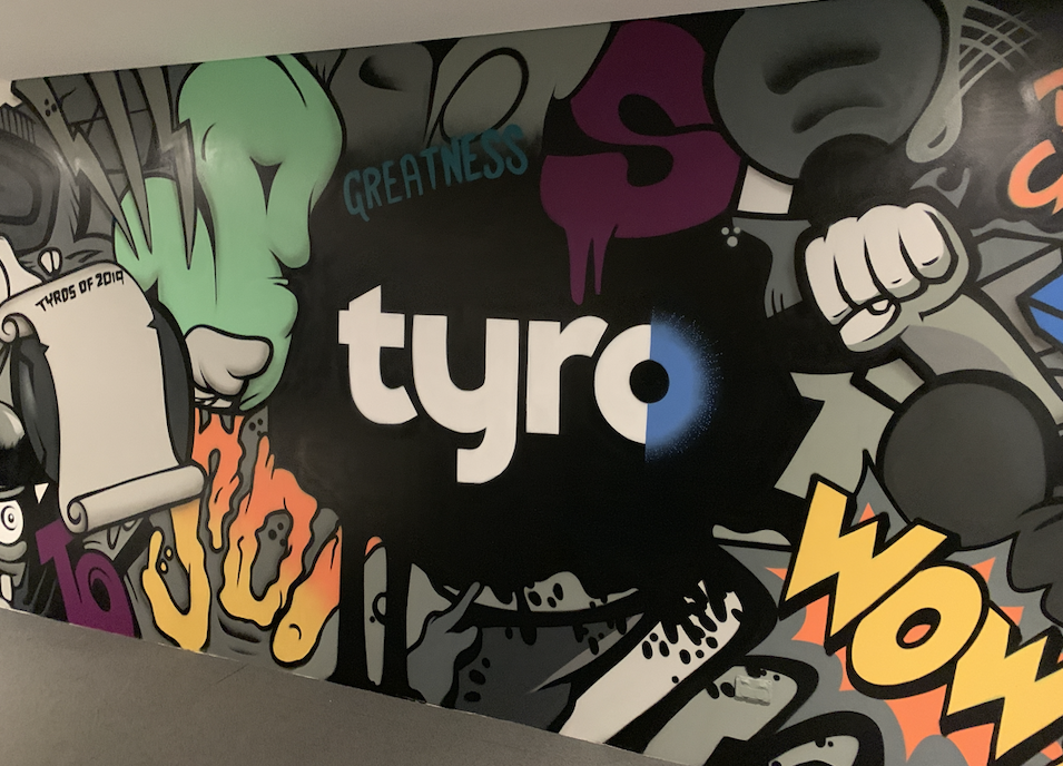 Tyro Graffiti Art Mural in office