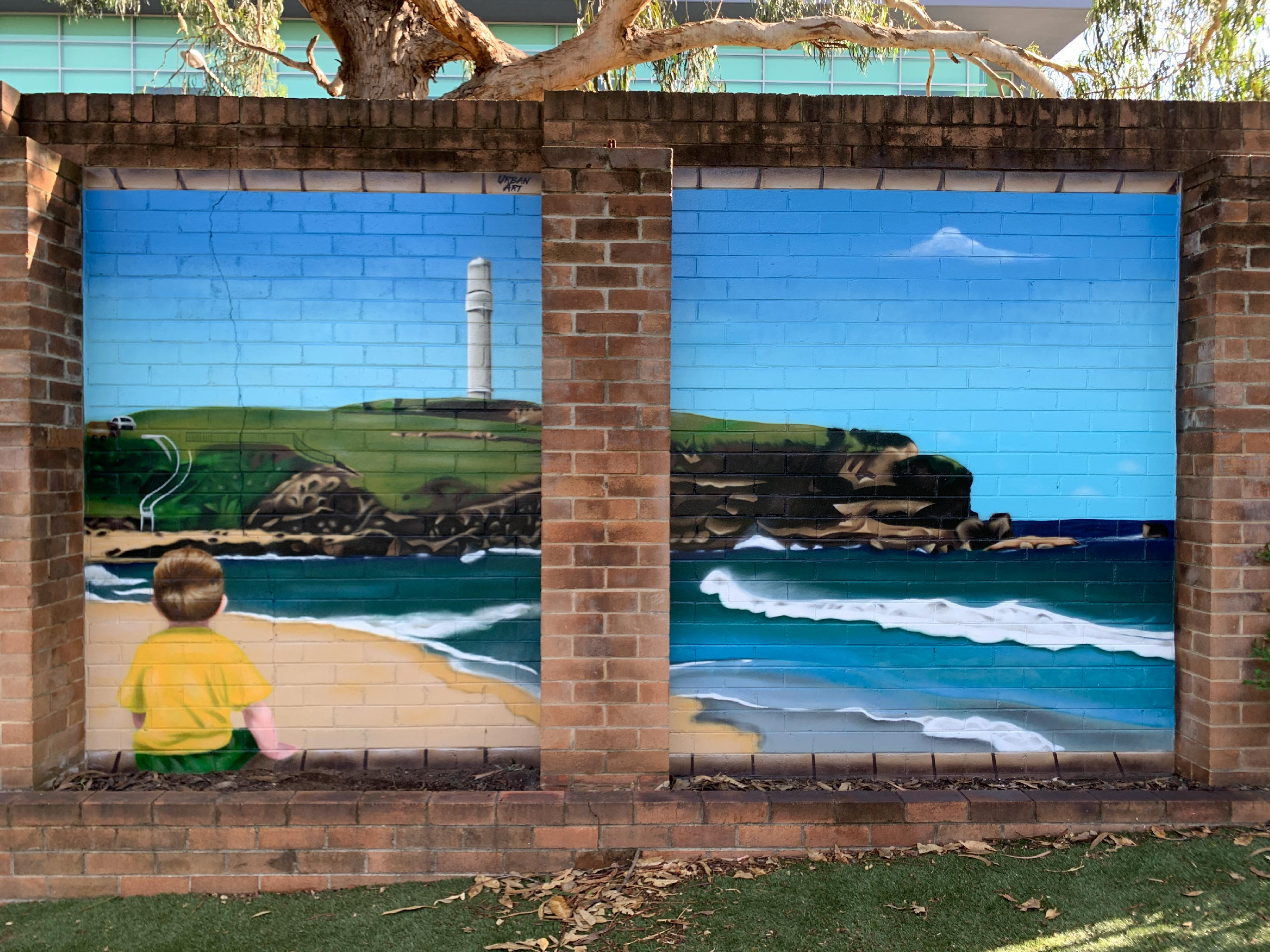 School Playground Street Art Mural