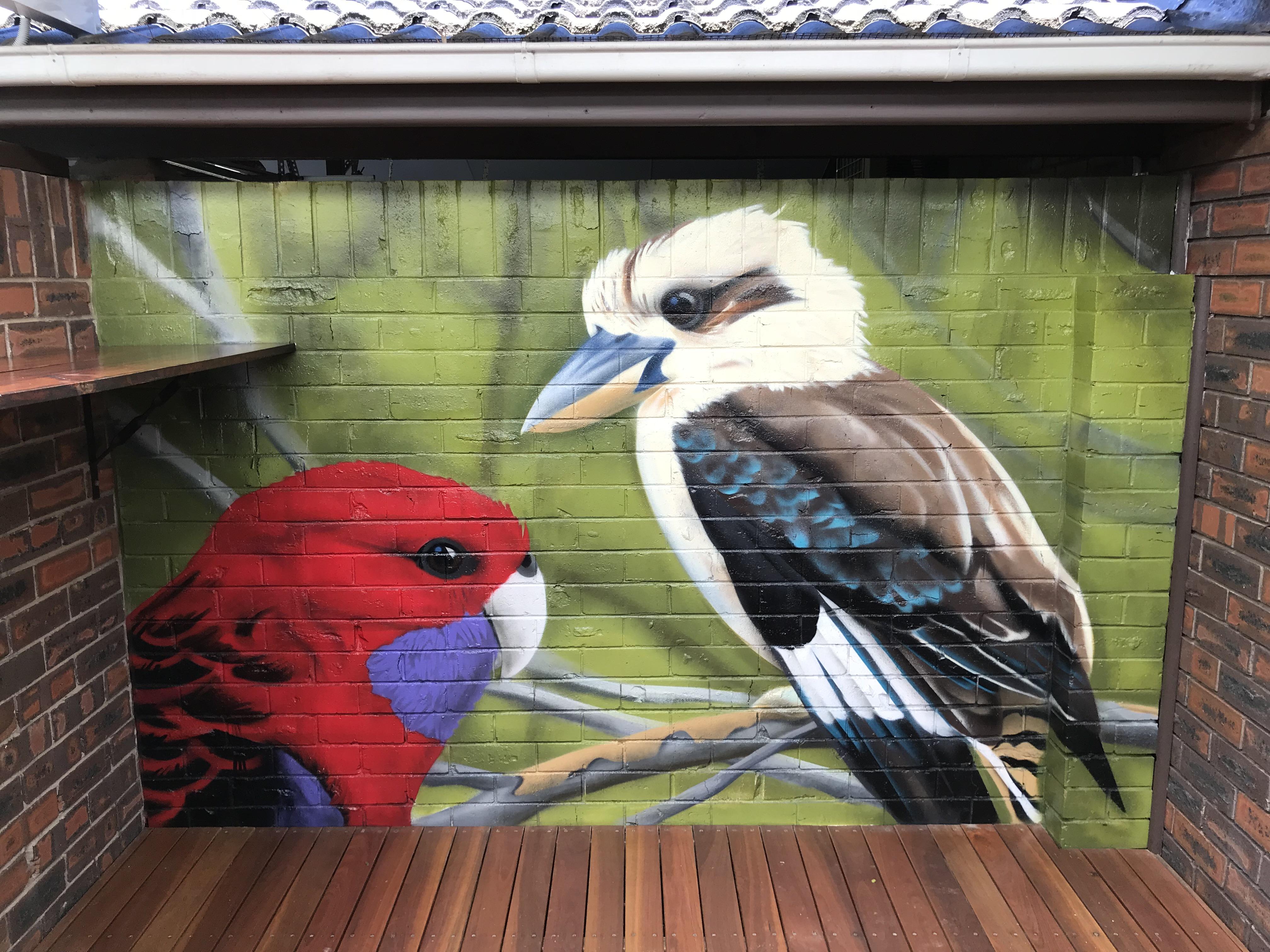 Australian Wildlife Bird Mural