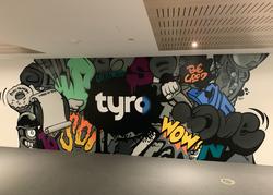 Corporate Graffiti Art Mural