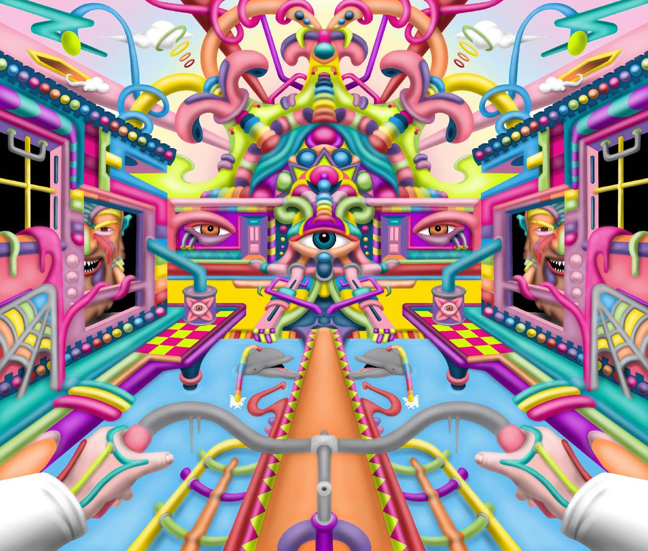 Lysergic Revelation psychedelic LSD art by Ayjay