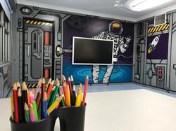 Science mural art in School