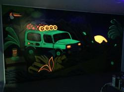UV neon black light mural art