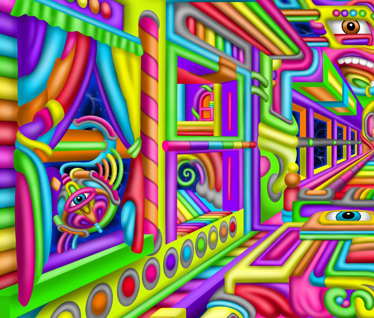 DMT trip art by Ayjay