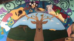 animal mural painted in school