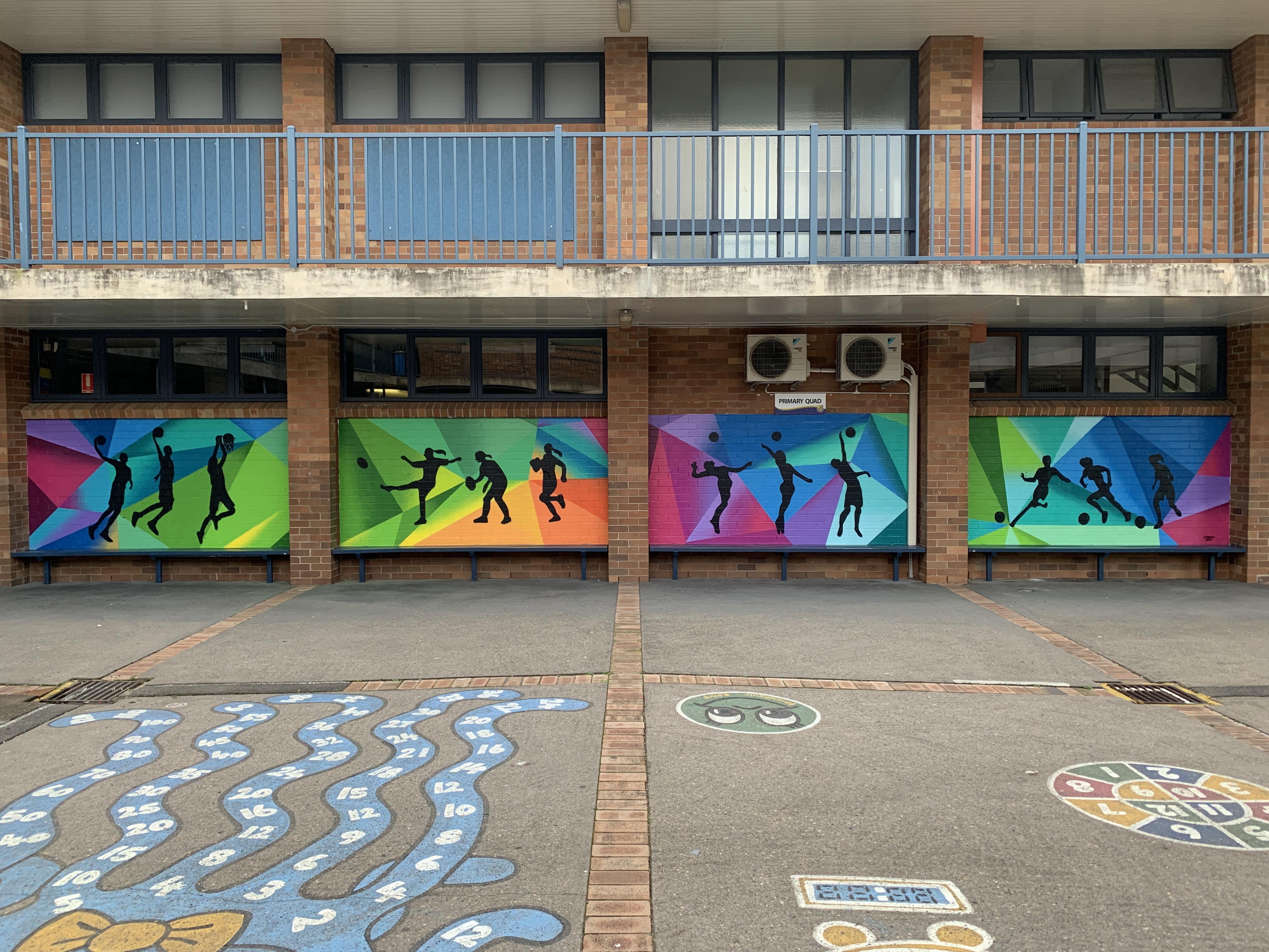 Public School Sports Mural Art