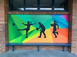 Rugby Graffiti Art Mural