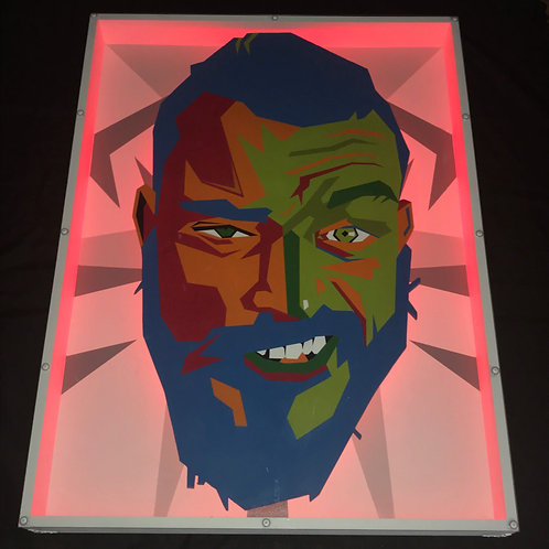 'Ayjay' Self Portrait | LED Artwork