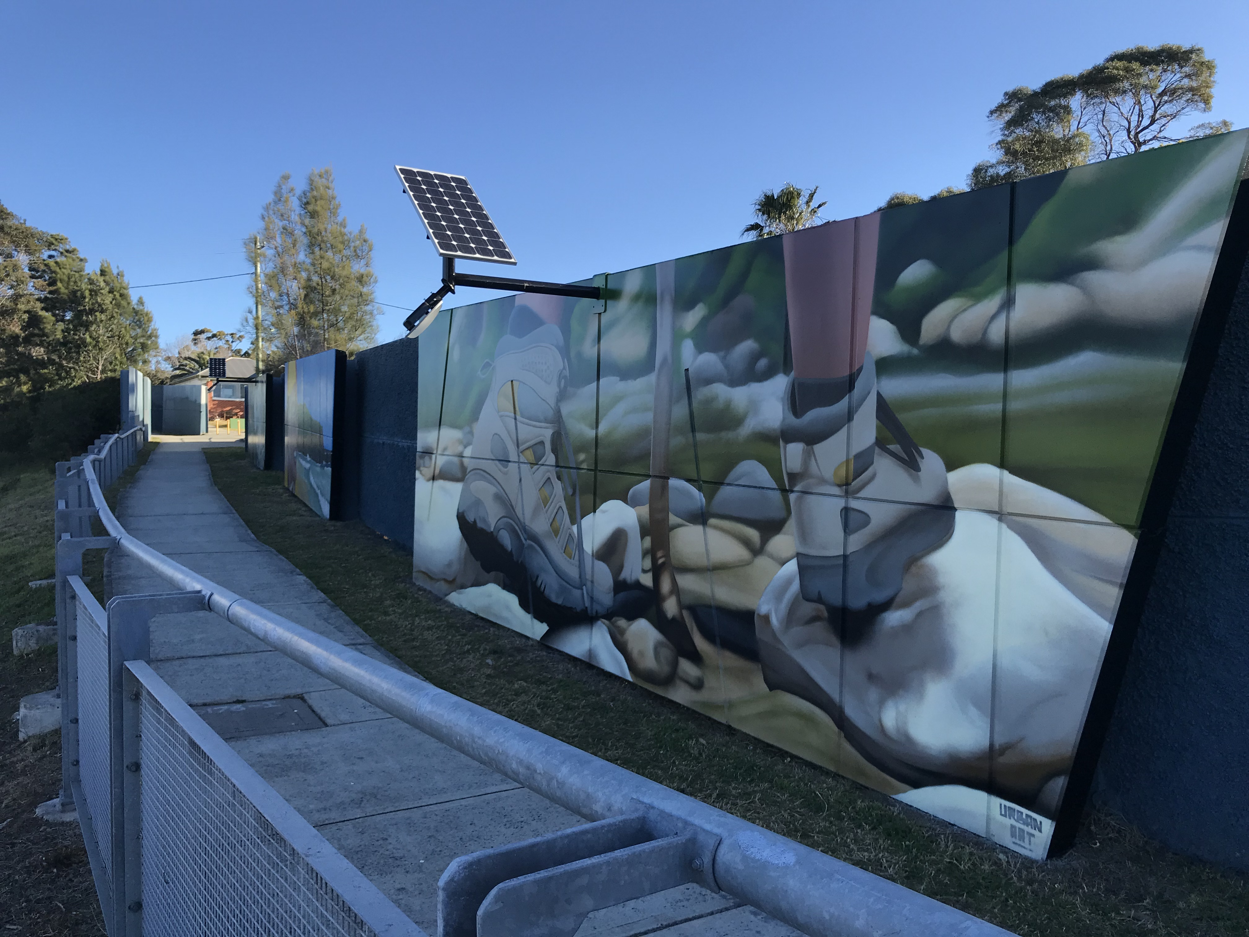 Bulli murals on highway sound walls