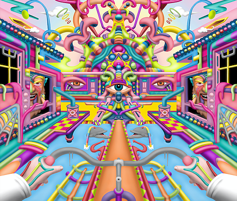 Lysergic Revelation - LSD Art By Ayjay .