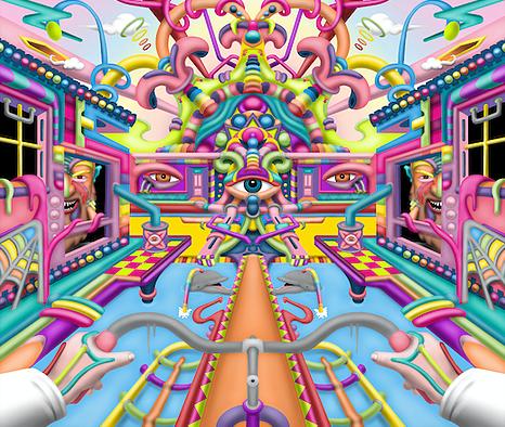 Lysergic Revelation - LSD Art By Ayjay .