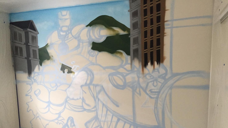 Avengers mural sketch up
