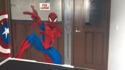 Spider man kids bedroom mural