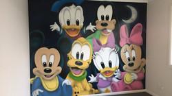baby Disney cartoon nursery room mural