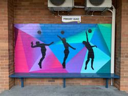 Volley Ball Graffiti Art Mural 8733