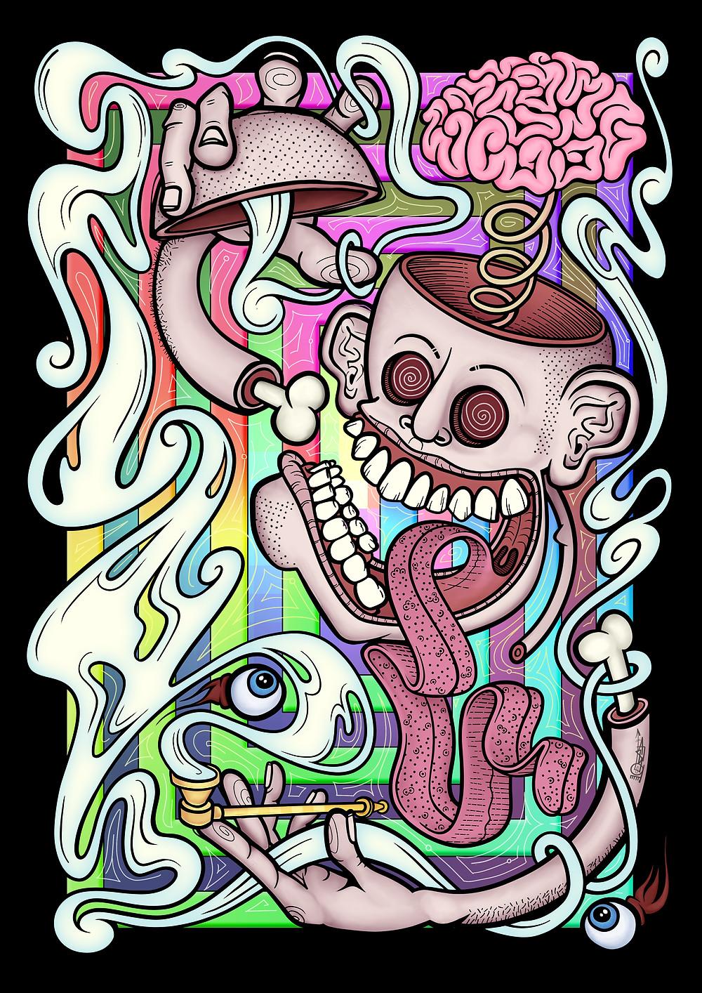 Pipedream Psych artwork by Alga
