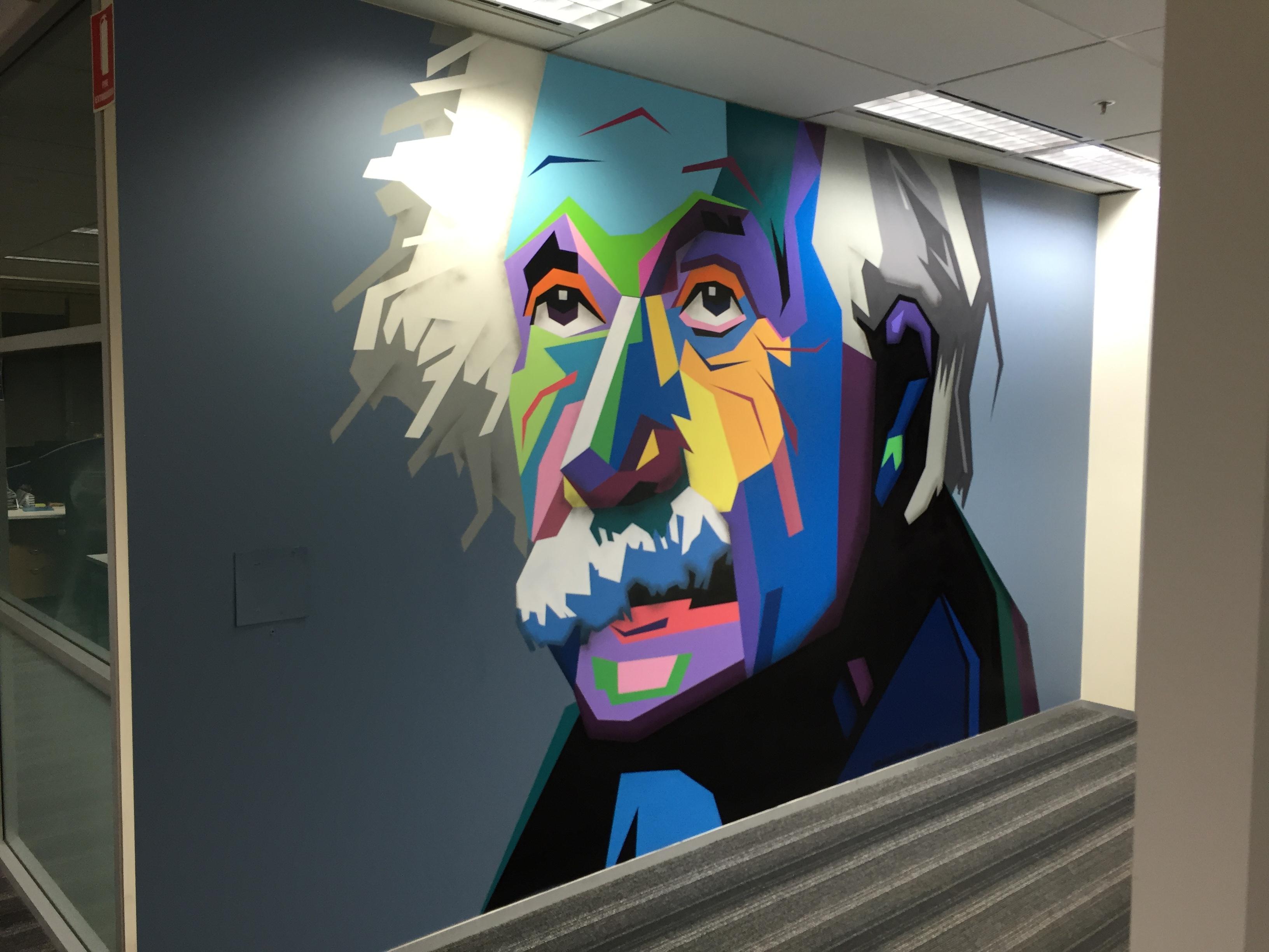 Sydney office mural art
