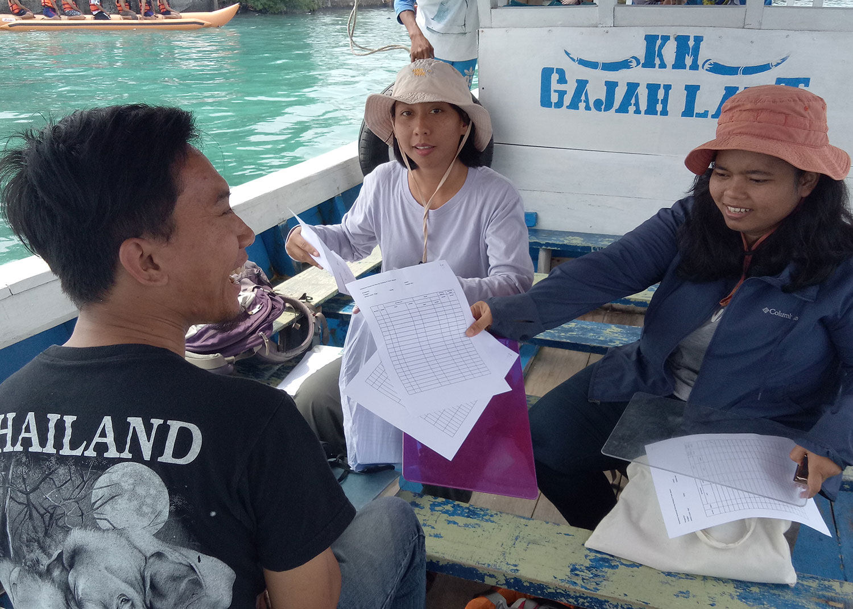 Team on boat