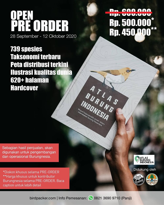 Open Pre Order Atlas Burung Indonesia