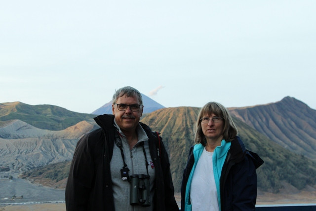 Clients in Bromo view point, East Java