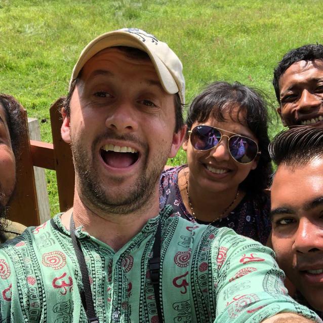 Group selfie in Sadengan, Alas Purwo