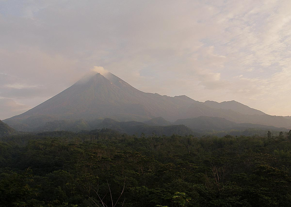 Landscape of the most actives volcanoes of Earth, Gunung Merapi