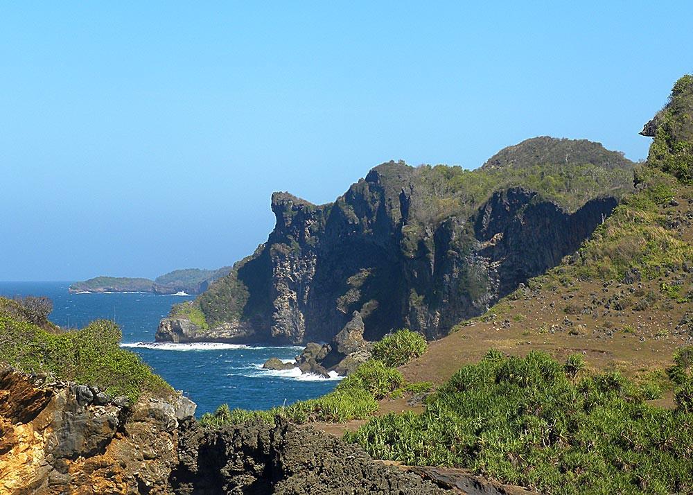 Landscape of Ngungap Cliff, Jogja