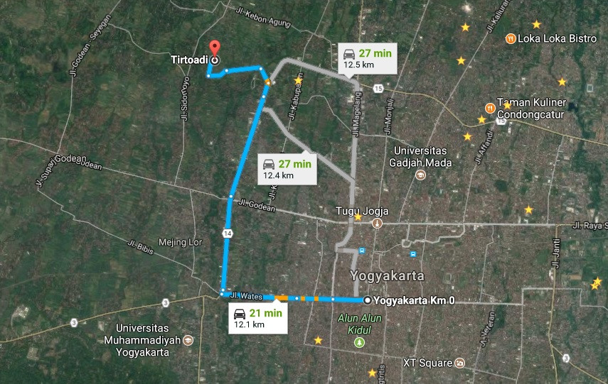 Map direction of Ketingan. source: google map